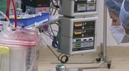 Stock Video Footage of Cardiopulmonary bypass operator