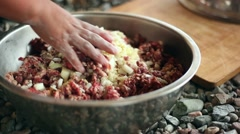 Cooking in the field Stock Footage