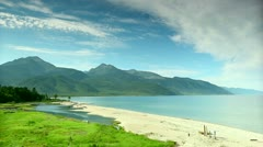 Lake Baikal Clouds and mountains Stock Footage