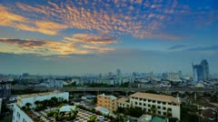 Colorful HDR Sunset over Bangkok Skyline - stock footage