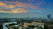 Stock Video Footage of Colorful HDR Sunset over Bangkok Skyline