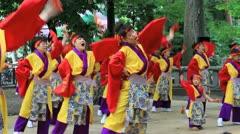 Japanese dance. Stock Footage
