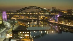 Newcastle Tyne Bridge Timelapse - stock footage