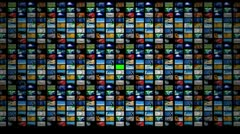 TV Wall ( Series 1 - Version from 1 to 5 ) Stock Footage