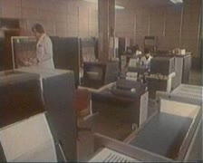 The old computer center Stock Footage