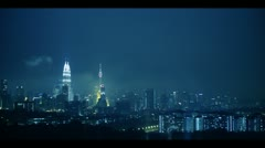 KL Blue Cloudy Night - stock footage
