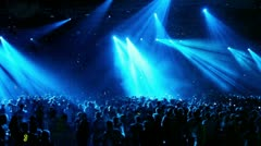 Crowd at rave party - stock footage