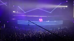 Popular Dutch DJ Armin Van Buuren on stage Stock Footage