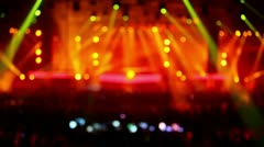 Yellow red colorful illumination at rave party Stock Footage