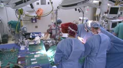Stock Video Footage of High shot of operating room