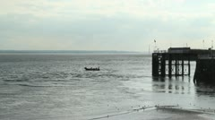 Lifeboat On Humber Estuary HD Stock Footage