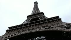 Eiffel Tower in Paris, France, Europe, French Architecture Stock Footage