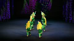 Girls in caucasian costume dance on concert Stock Footage