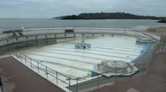 Tinside Lido Swimming Pool, Plymouth Hoe Stock Footage