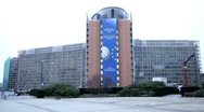 Stock Video Footage of European Commission Building in Brussels, Belgium
