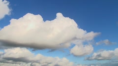Blue Sky and Clouds Time Lapse Stock Footage