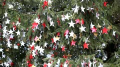 Flanders Christmas Decorations, Celebration, Festival in Brussels, Belgium Stock Footage