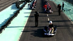 Go cart start Stock Footage