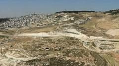 Aerial View of the Mt of Olives Stock Footage