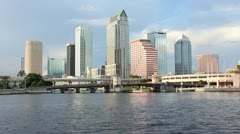 Downtown Tampa Skyline DI1 Stock Footage