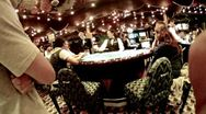 Stock Video Footage of Work of croupier behind table in casino