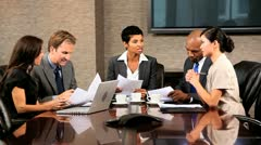 Group of Multi Ethnic Business Executives Stock Footage