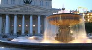 Bolshoi theater,  tourists photograph building Stock Footage