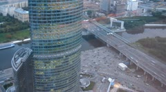 Naberezhnaya Tower or Quay Tower is an office complex Stock Footage