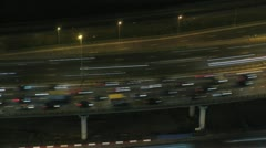 Automobile jam at night on Third transport ring Stock Footage