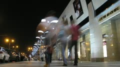 People walk and are shopping on New Arbat Stock Footage