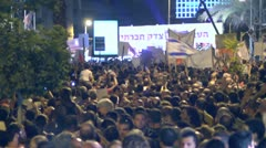 Tel Aviv protest demonstration 3 Stock Footage