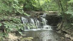 Woodland Waterfall 2 Stock Footage