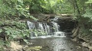 Stock Video Footage of Woodland Waterfall 2