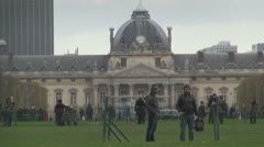 Central École Militaire building, Paris Stock Footage