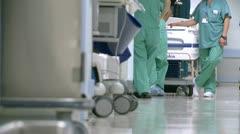 Medical staff in hospital hallway (3 of 5) - stock footage