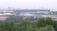Stock Video Footage of Turn from Luzhnetsky bridge to Sports complex Luzhniki