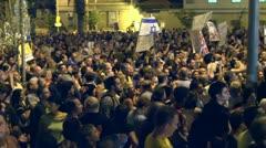 Tel Aviv protest demonstration 1 Stock Footage