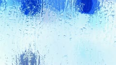 Water droplets on windows,Grilles,ice,Water vapor. Stock Footage