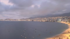 Acapulco Bay Panning Time Lapse HD Stock Footage