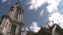 Stock Video Footage of Church Spires & Thunderheads DMS 0017 01