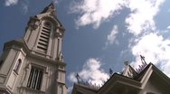 Church Spires & Thunderheads DMS 0017 01 Stock Footage