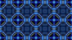 Blue - Kaleidoscop - Square Stock Footage