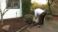 A Senior Gardening 5 Stock Footage