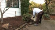 Stock Video Footage of A Senior Gardening 5