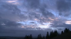 Stock Video Footage of Afterstorm sunset clouds 30p 5s-s