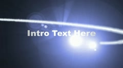 Light-particles-intro-text - stock after effects