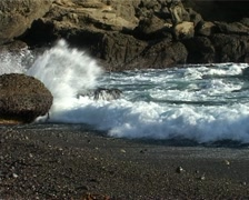 Waves on Beach at Point Lobos State Park GFSD Stock Footage