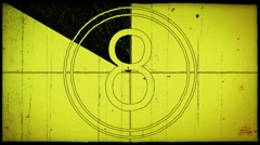 8mm film counter - yellow sketch Stock Footage