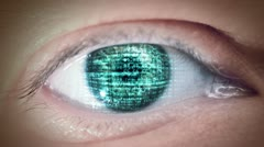 Eye Of Matrix 2 Stock Footage
