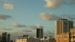 the clouds above Tel Aviv 01 - stock footage